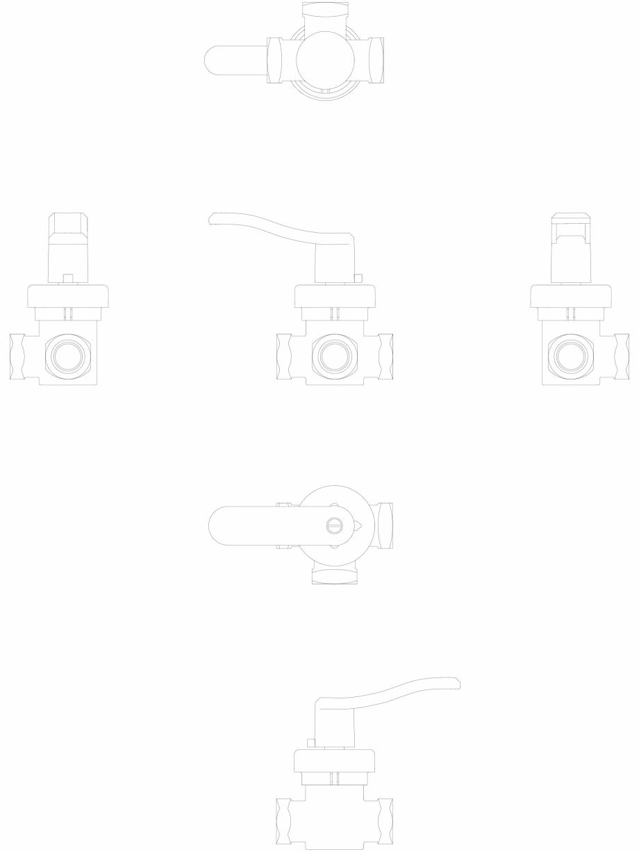 Pagina 1 - CAD-DWG 2D CAD - vana rotativa DANFOSS Detaliu de produs HRB 3