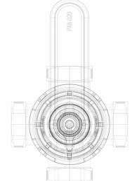 3D CAD - vana rotativa cu 3 cai