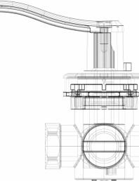 3D CAD - vana rotativa cu 4 cai