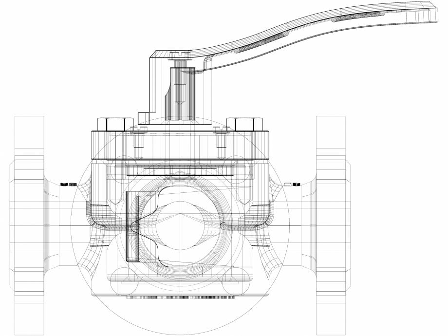 Pagina 1 - CAD-DWG 3D CAD vana rotativa DANFOSS Detaliu de produs HFE 3