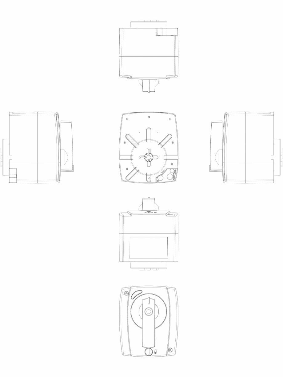 Pagina 1 - CAD-DWG 2D CAD - Servomotor electric rotativ DANFOSS Detaliu de produs AMB 182