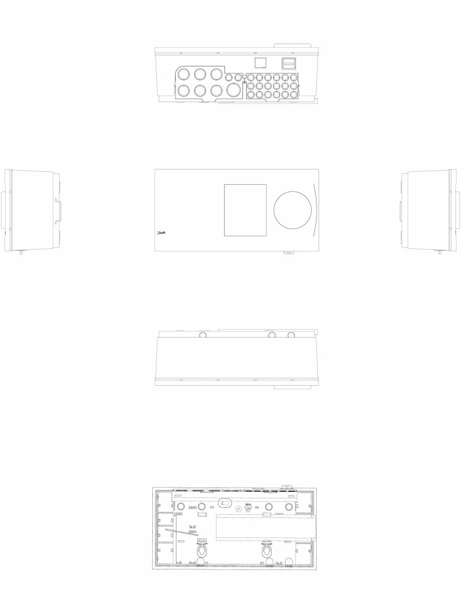 Pagina 1 - CAD-DWG 2D CAD - Regulator electronic de temperatura  DANFOSS Detaliu de produs ECL...