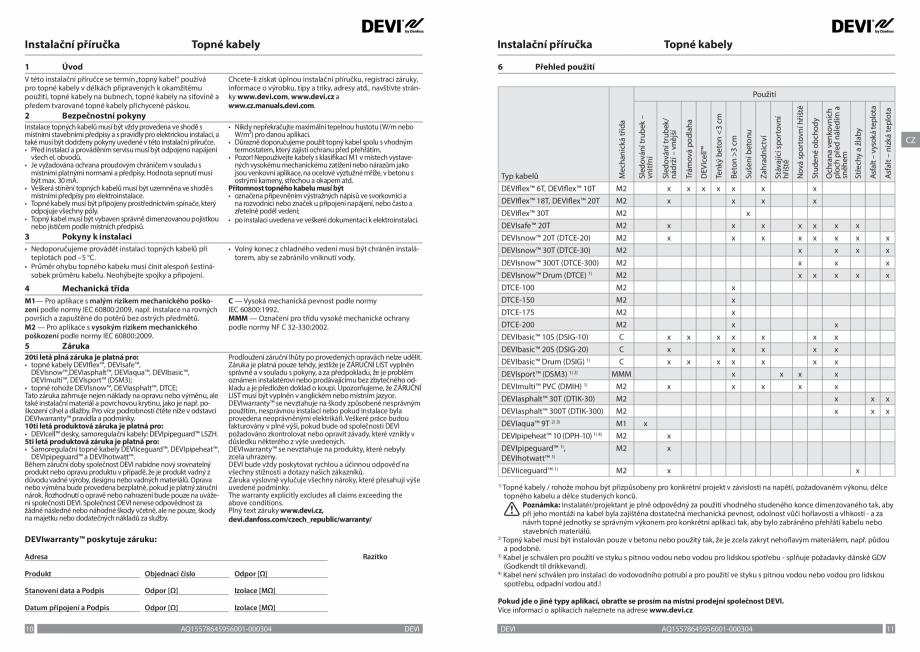 Pagina 6 - Ghid de instalare - Cabluri de incalzire DEVI Catalog, brosura Engleza, Franceza, Romana,...