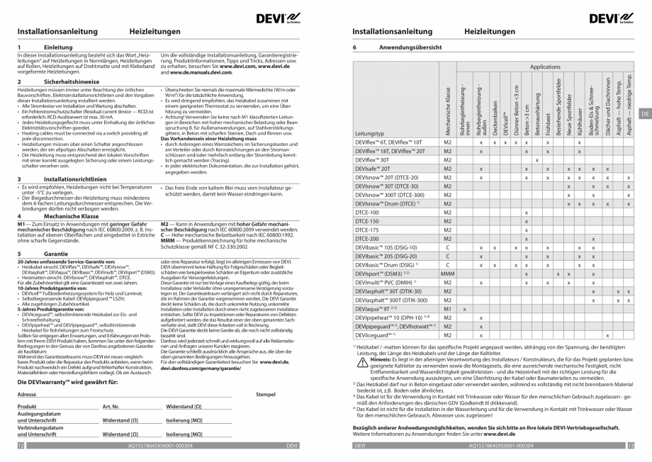 Pagina 7 - Ghid de instalare - Cabluri de incalzire DEVI Catalog, brosura Engleza, Franceza, Romana,...