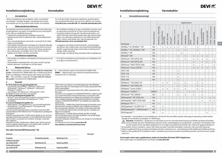 Pagina 8 - Ghid de instalare - Cabluri de incalzire DEVI Catalog, brosura Engleza, Franceza, Romana,...