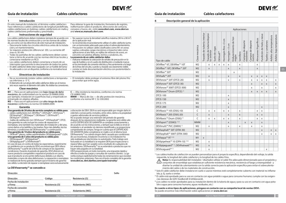 Pagina 10 - Ghid de instalare - Cabluri de incalzire DEVI Catalog, brosura Engleza, Franceza, Romana...