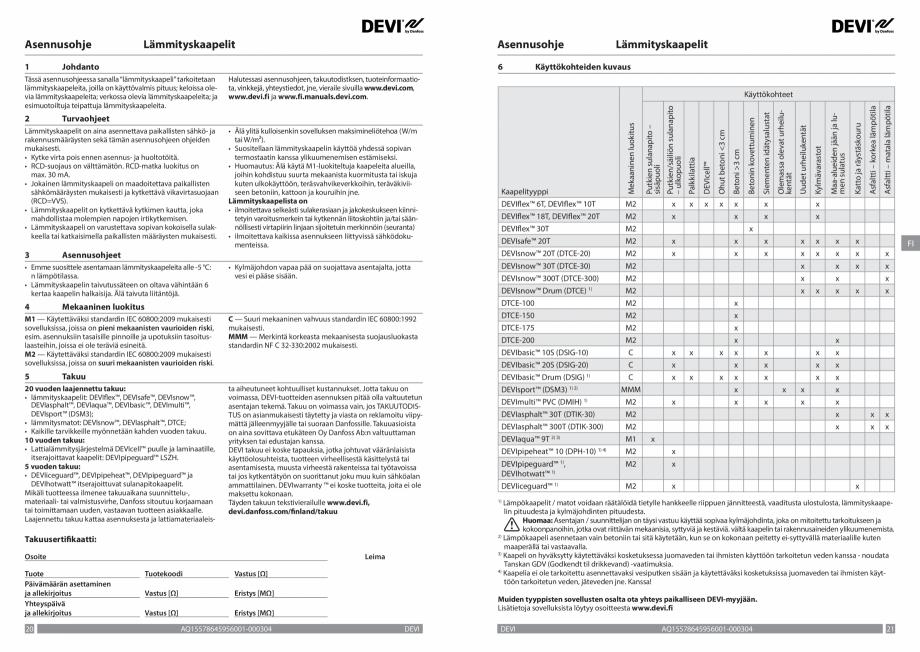 Pagina 11 - Ghid de instalare - Cabluri de incalzire DEVI Catalog, brosura Engleza, Franceza, Romana...