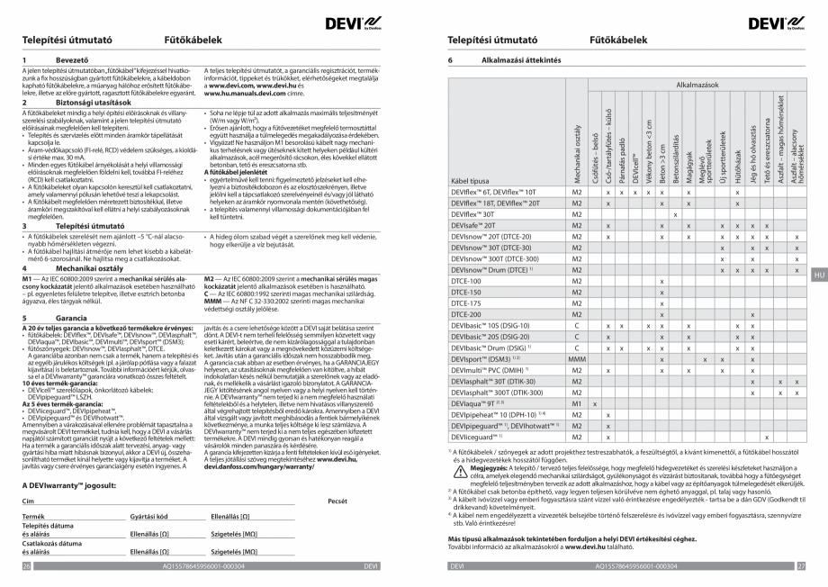 Pagina 14 - Ghid de instalare - Cabluri de incalzire DEVI Catalog, brosura Engleza, Franceza, Romana...