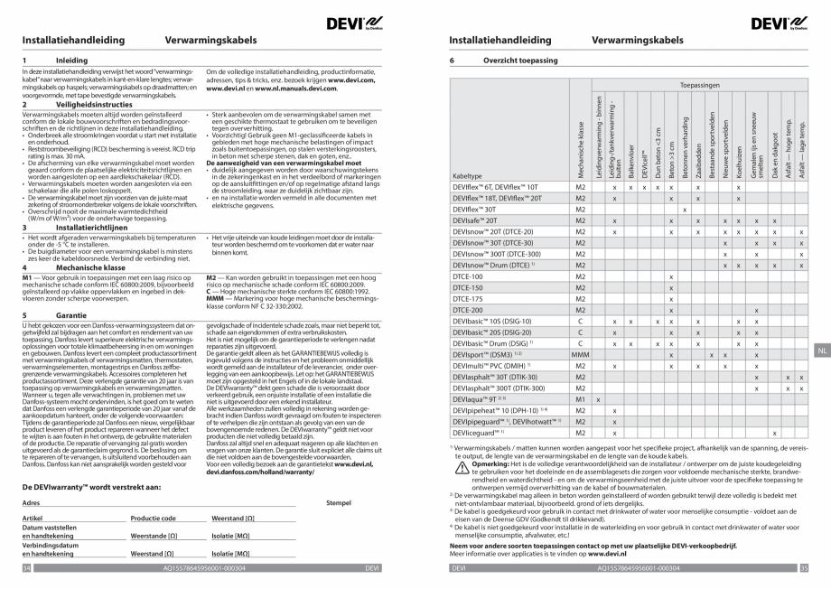 Pagina 18 - Ghid de instalare - Cabluri de incalzire DEVI Catalog, brosura Engleza, Franceza, Romana...