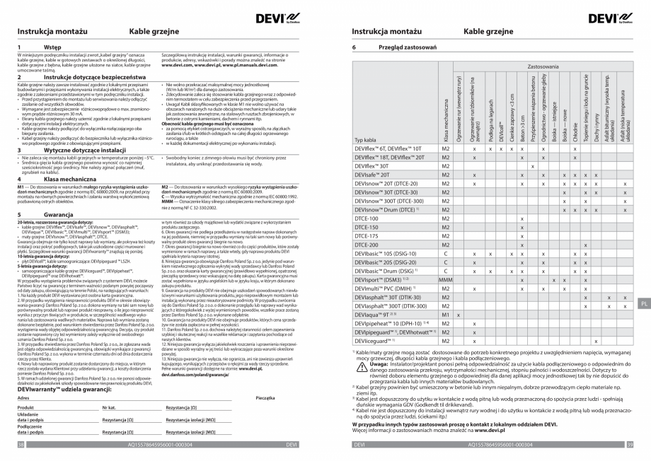 Pagina 20 - Ghid de instalare - Cabluri de incalzire DEVI Catalog, brosura Engleza, Franceza, Romana...