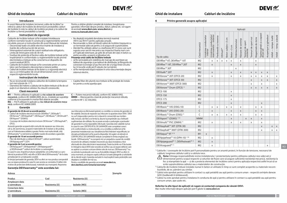 Pagina 22 - Ghid de instalare - Cabluri de incalzire DEVI Catalog, brosura Engleza, Franceza, Romana...