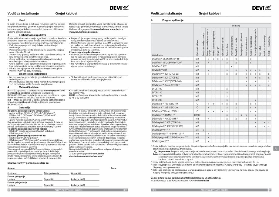 Pagina 23 - Ghid de instalare - Cabluri de incalzire DEVI Catalog, brosura Engleza, Franceza, Romana...