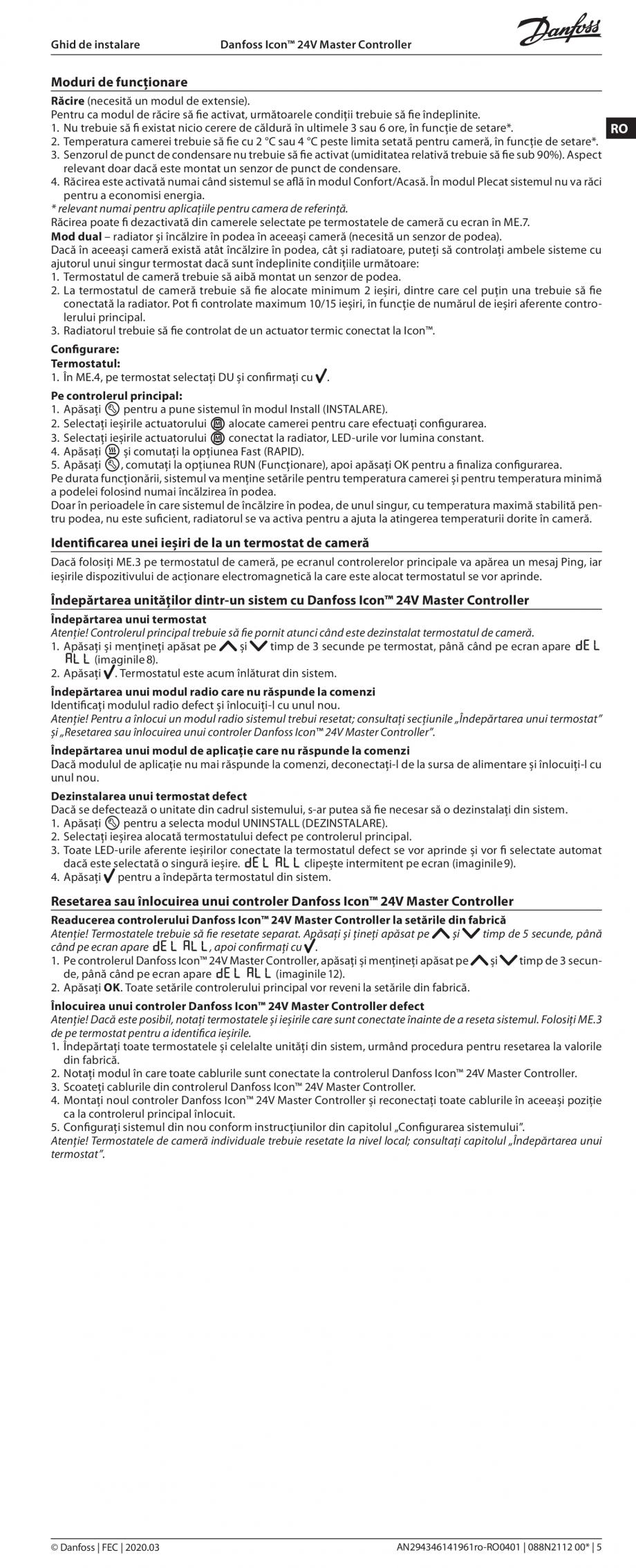 Pagina 5 - Ghid de instalare pentru Danfoss Icon™ 24V Master Controller - sistem inteligent de...