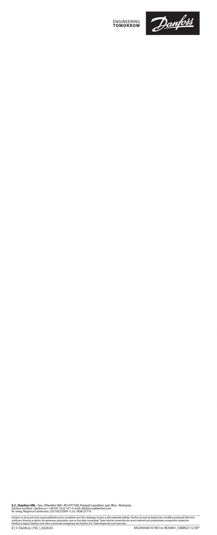 Pagina 8 - Ghid de instalare pentru Danfoss Icon™ 24V Master Controller - sistem inteligent de...