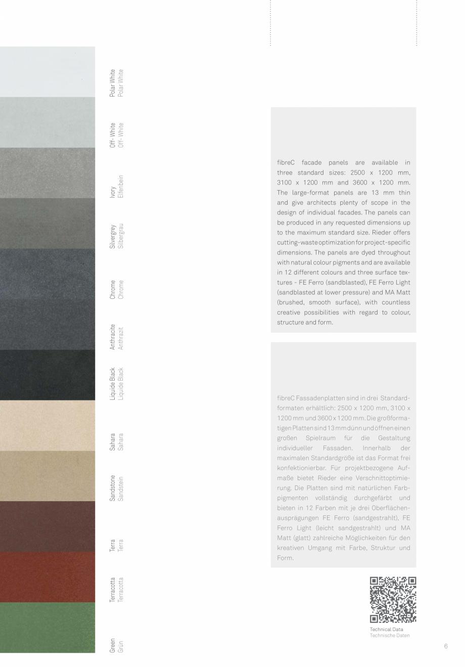 Pagina 7 - Panouri din beton aparent RIEDER Concrete Skin Lucrari, proiecte Engleza  glassfibres and...