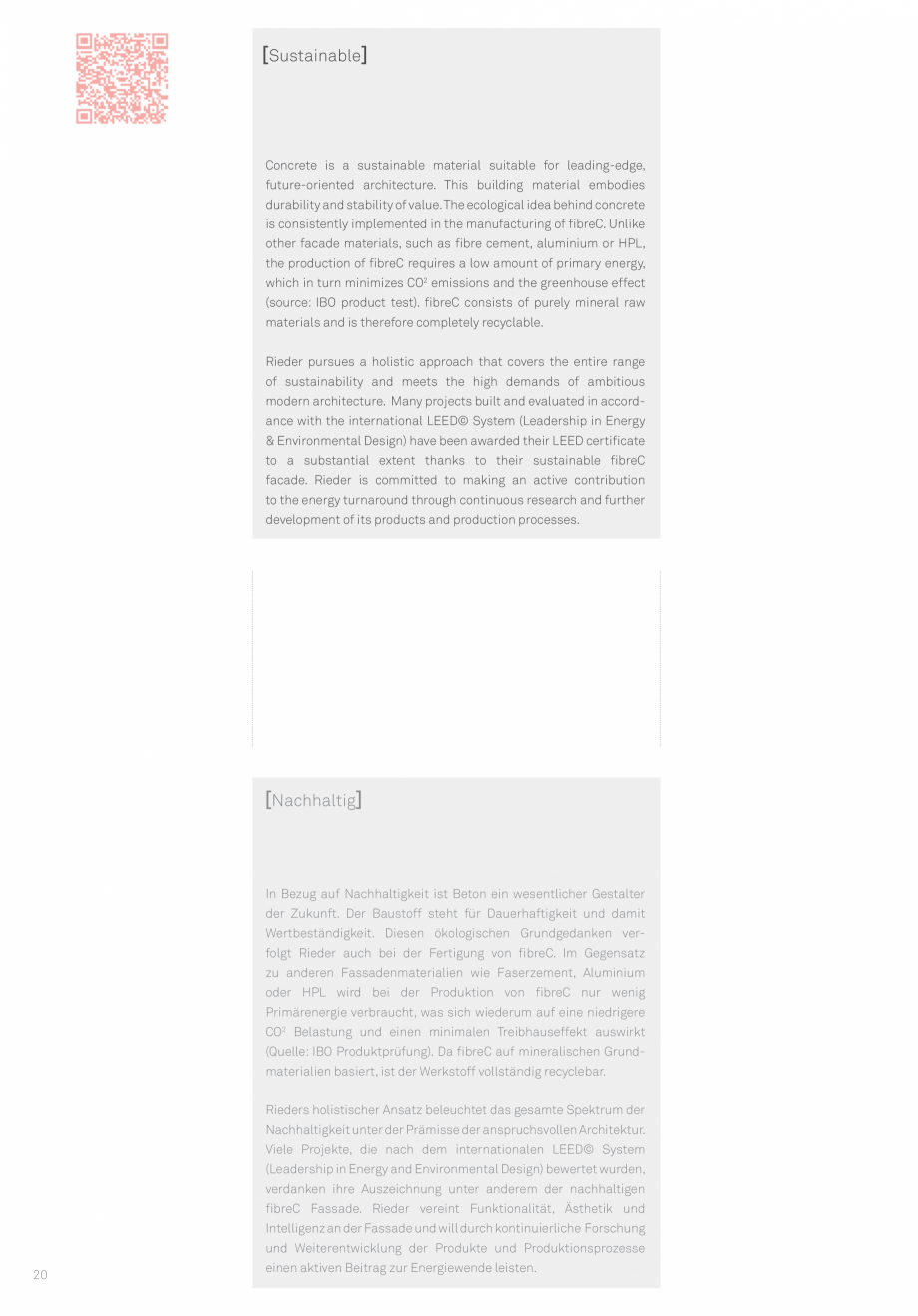 Pagina 22 - Panouri din beton aparent RIEDER Concrete Skin Lucrari, proiecte Engleza en | FE, FL &...