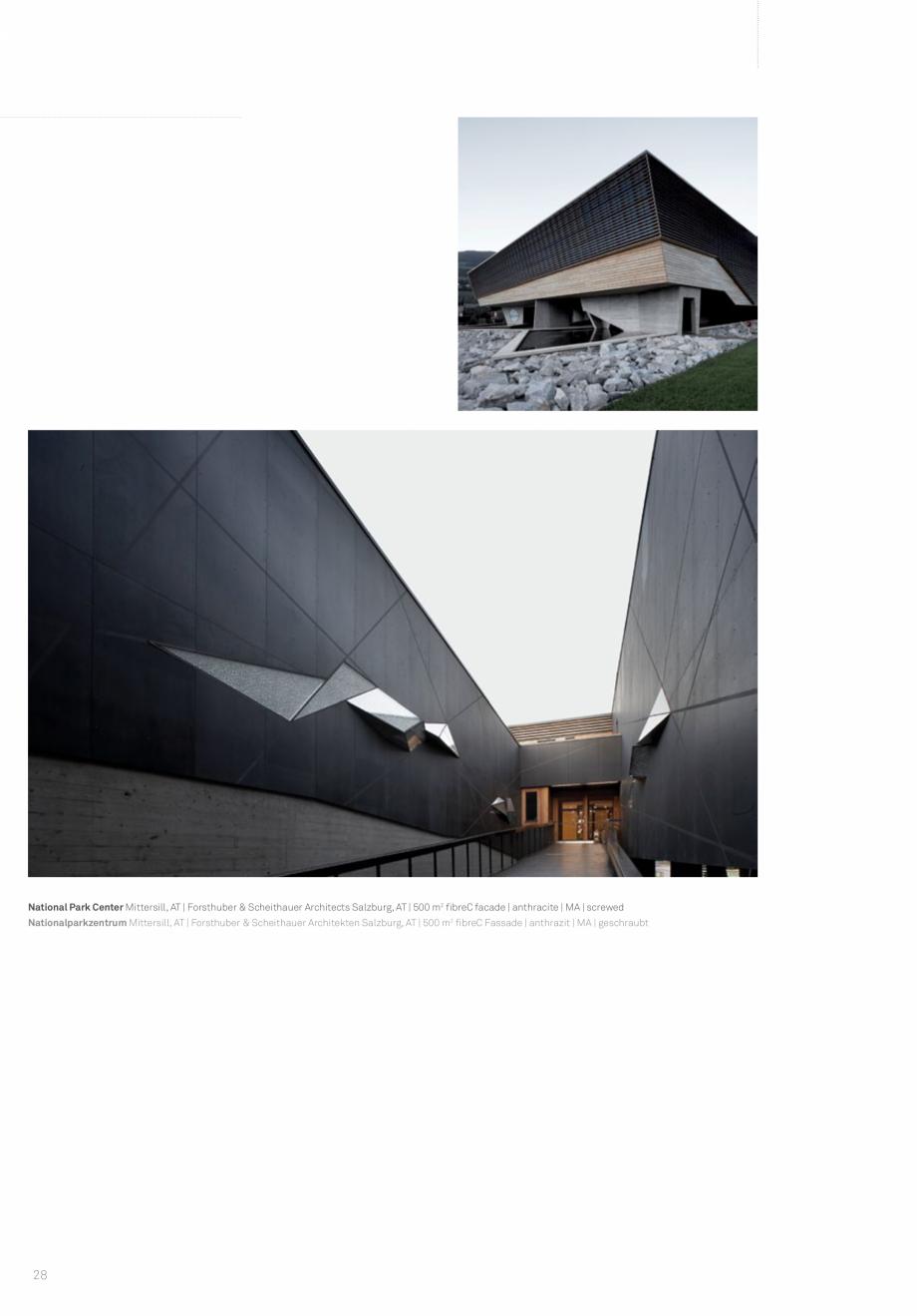 Pagina 30 - Panouri din beton aparent RIEDER Concrete Skin Lucrari, proiecte Engleza ienten, AT |...