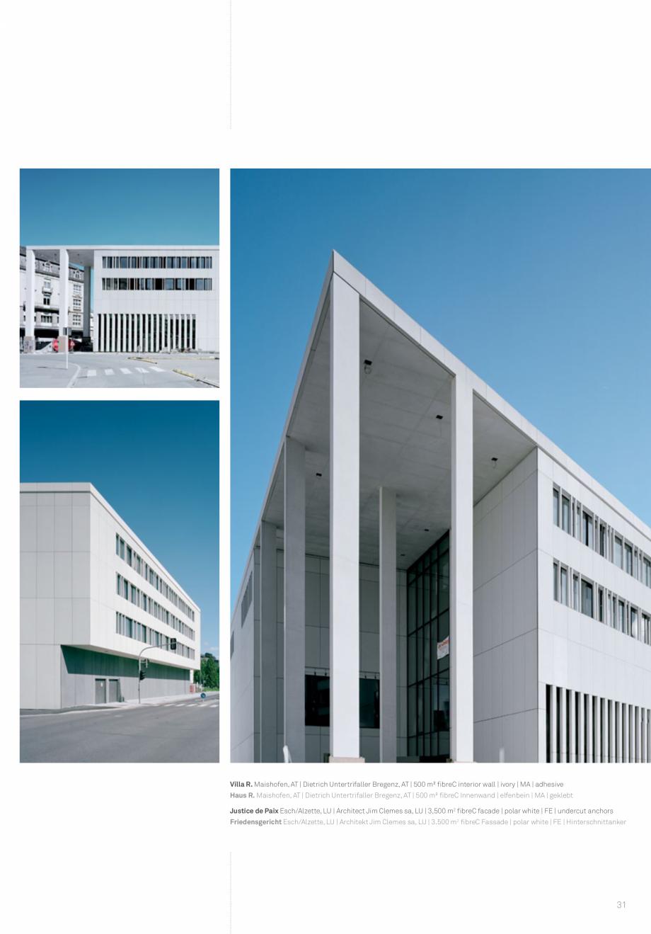 Pagina 33 - Panouri din beton aparent RIEDER Concrete Skin Lucrari, proiecte Engleza breC  ivory,...