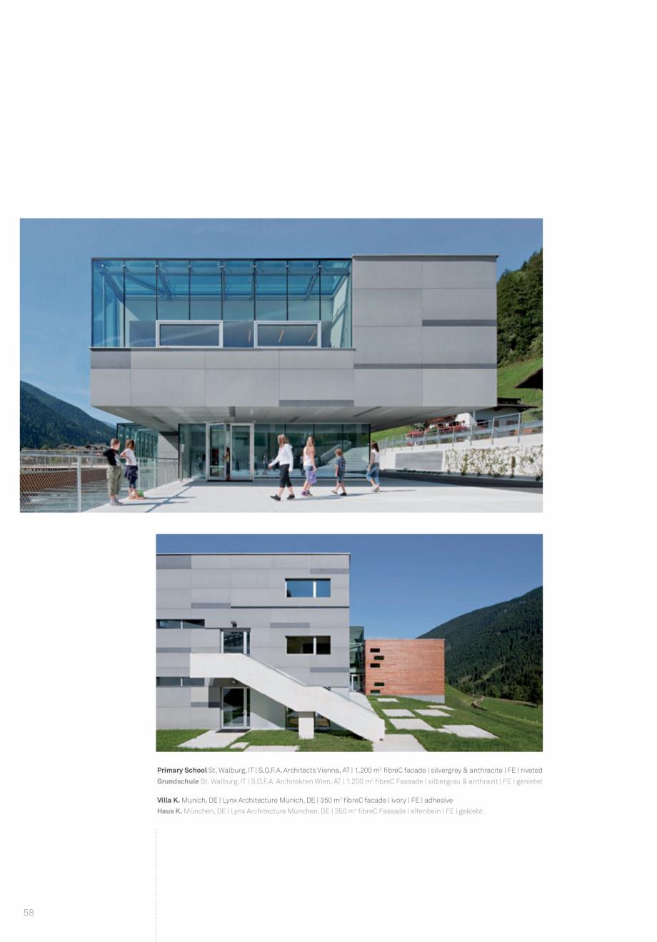 Pagina 60 - Panouri din beton aparent RIEDER Concrete Skin Lucrari, proiecte Engleza
