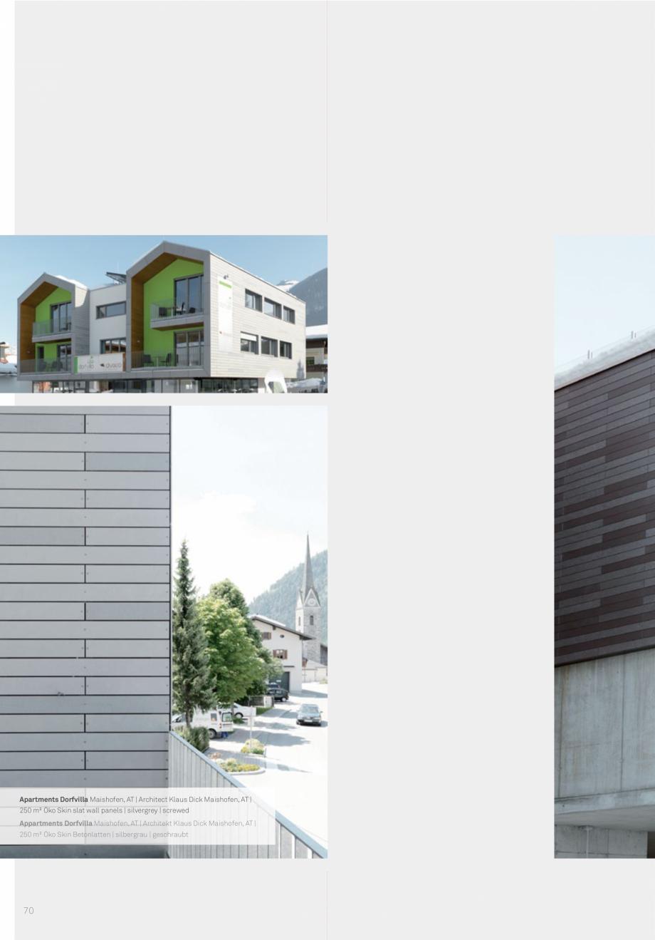 Pagina 72 - Panouri din beton aparent RIEDER Concrete Skin Lucrari, proiecte Engleza