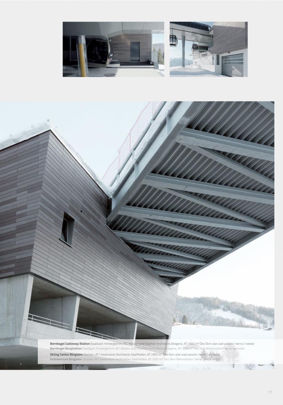 Pagina 73 - Panouri din beton aparent RIEDER Concrete Skin Lucrari, proiecte Engleza