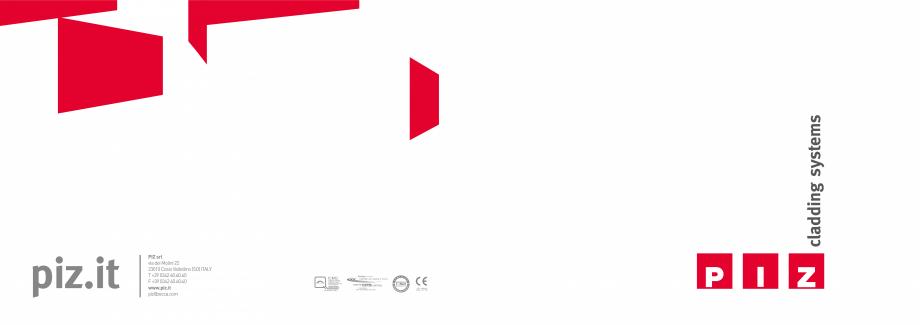 Fisa tehnica Panouri termoizolante cu finisaj decor PIZ PIZ Panouri termoizolante cu finisaj decor  GEPLAST el Simon Architecture Simon  12 | PIZ cladding systems  PIZ |  13  Cladding System ® boosts the... - Pagina 2