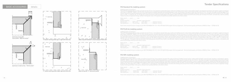 Fisa tehnica Panouri termoizolante cu finisaj decor PIZ PIZ Panouri termoizolante cu finisaj decor  GEPLAST  - Pagina 33