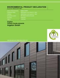 Declaratia de mediu (EPD) pentru sisteme de fatada din ceramica