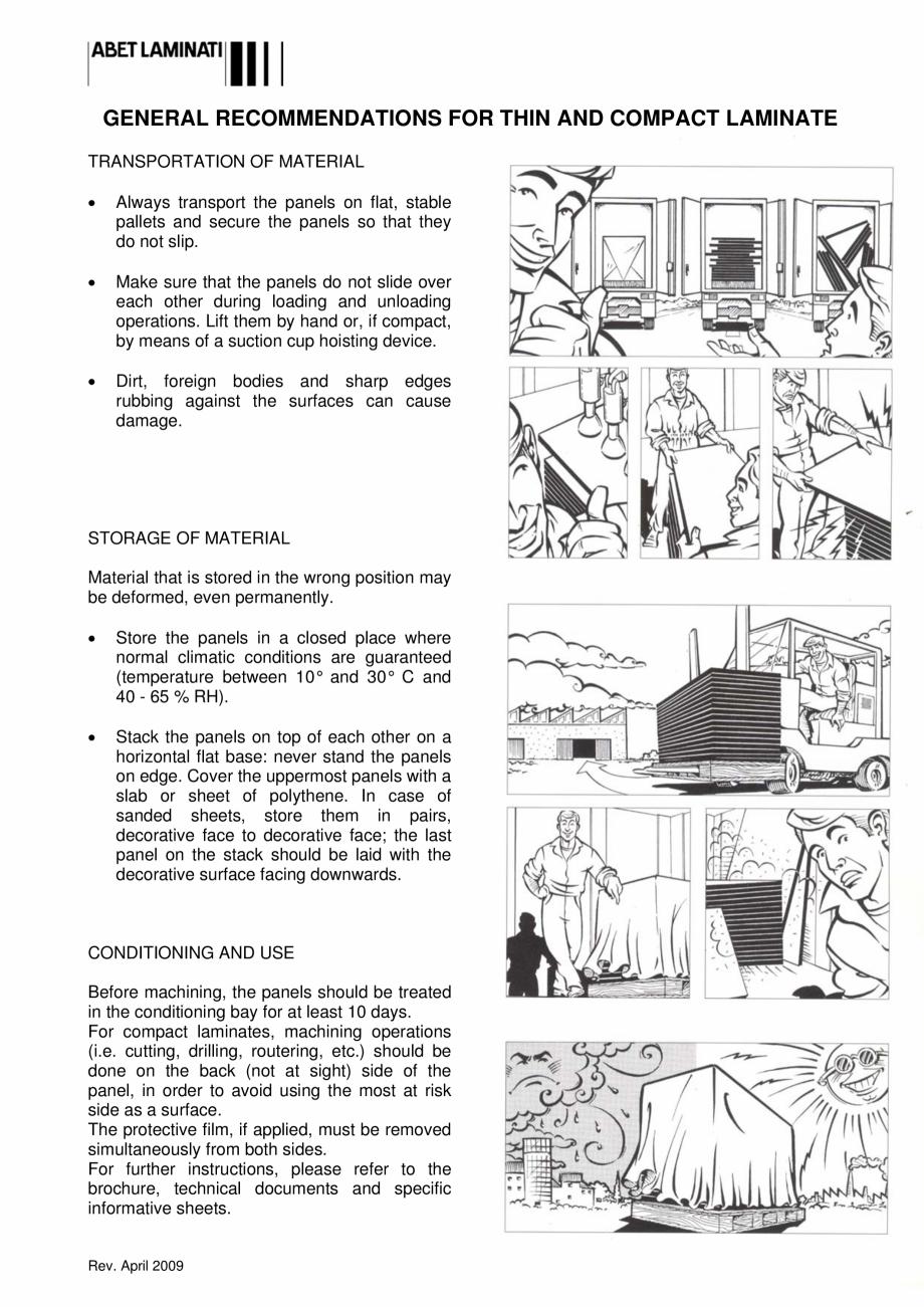 Pagina 5 - Placi HPL pentru fatade si pereti ABET LAMINATI Fisa tehnica Engleza, Italiana o effetto ...