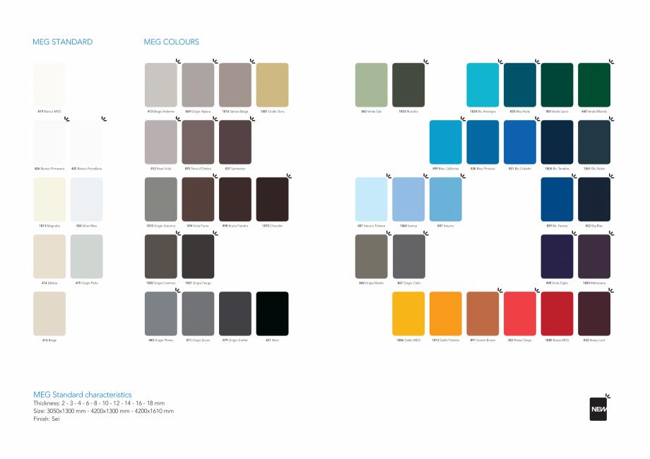 Pagina 3 - Gama de culori MEG panou HPL cu fete decor pentru exterior ABET LAMINATI Fisa tehnica...
