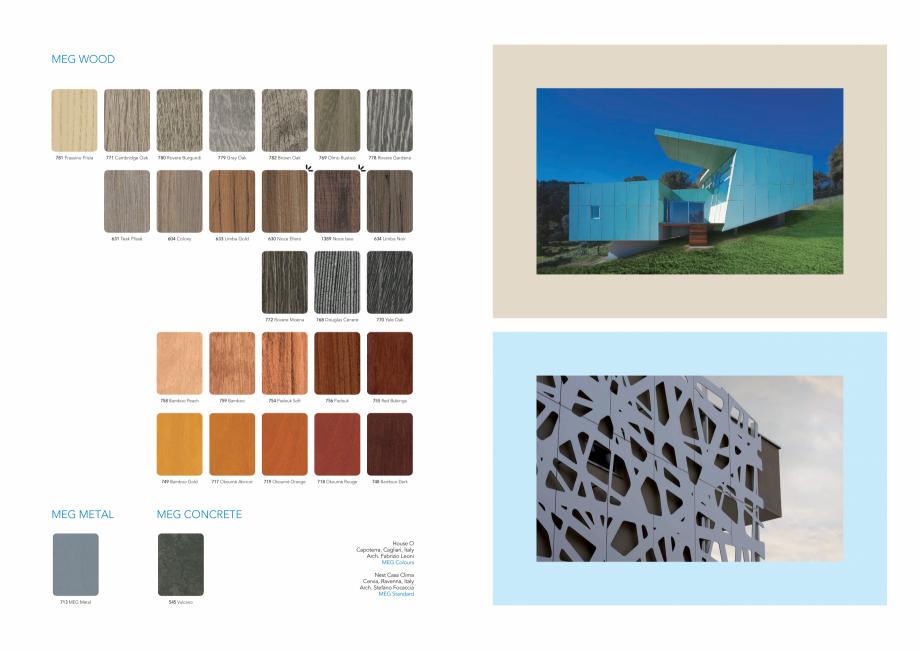 Pagina 4 - Gama de culori MEG panou HPL cu fete decor pentru exterior ABET LAMINATI Fisa tehnica...