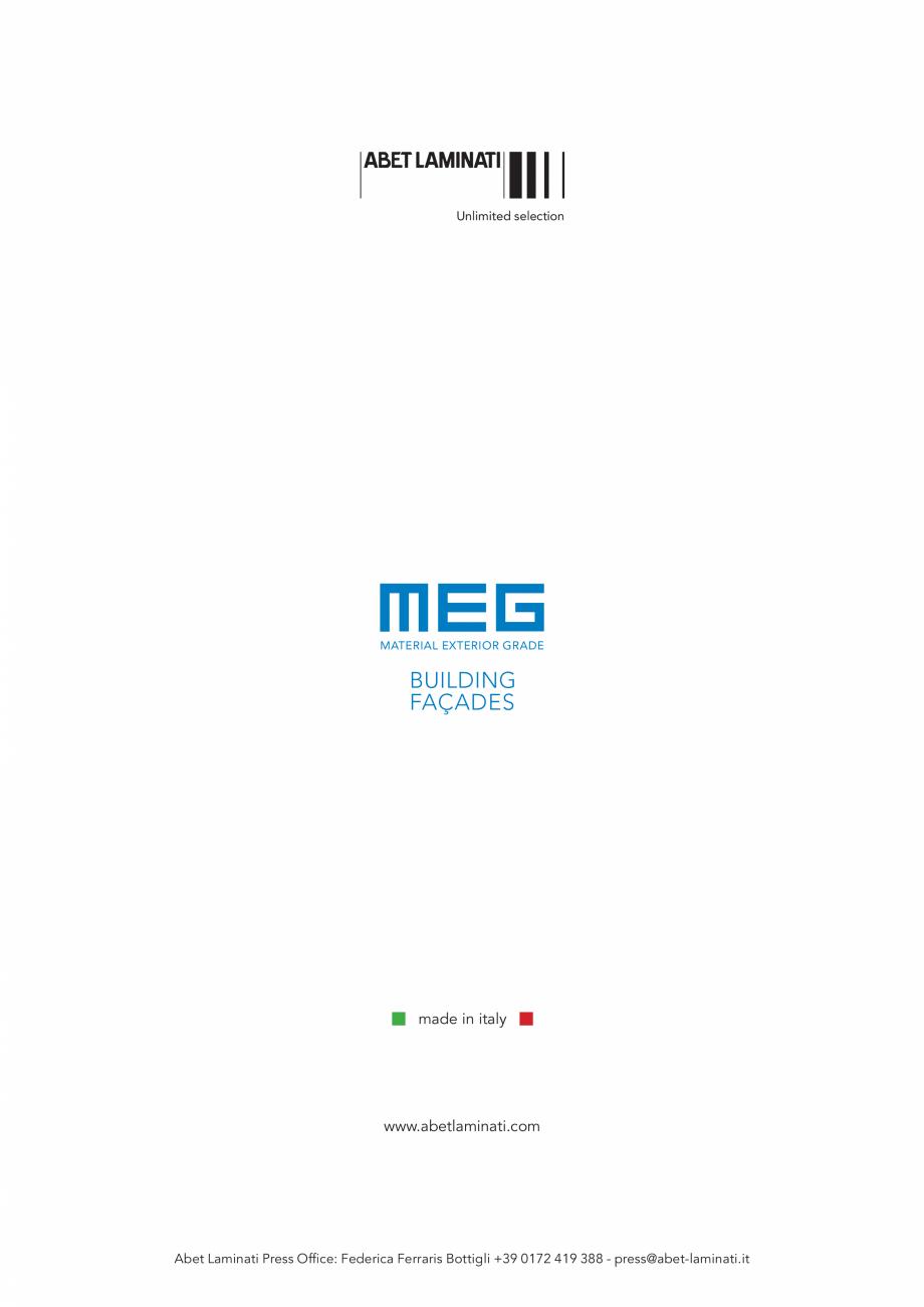 Pagina 6 - Gama de culori MEG panou HPL cu fete decor pentru exterior ABET LAMINATI Fisa tehnica...