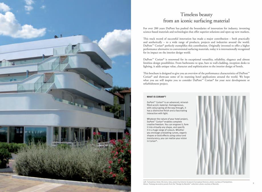 Pagina 3 - Utilizarea  placilor minerale pentru interioare in hoteluri CORIAN® Solid Surface ...