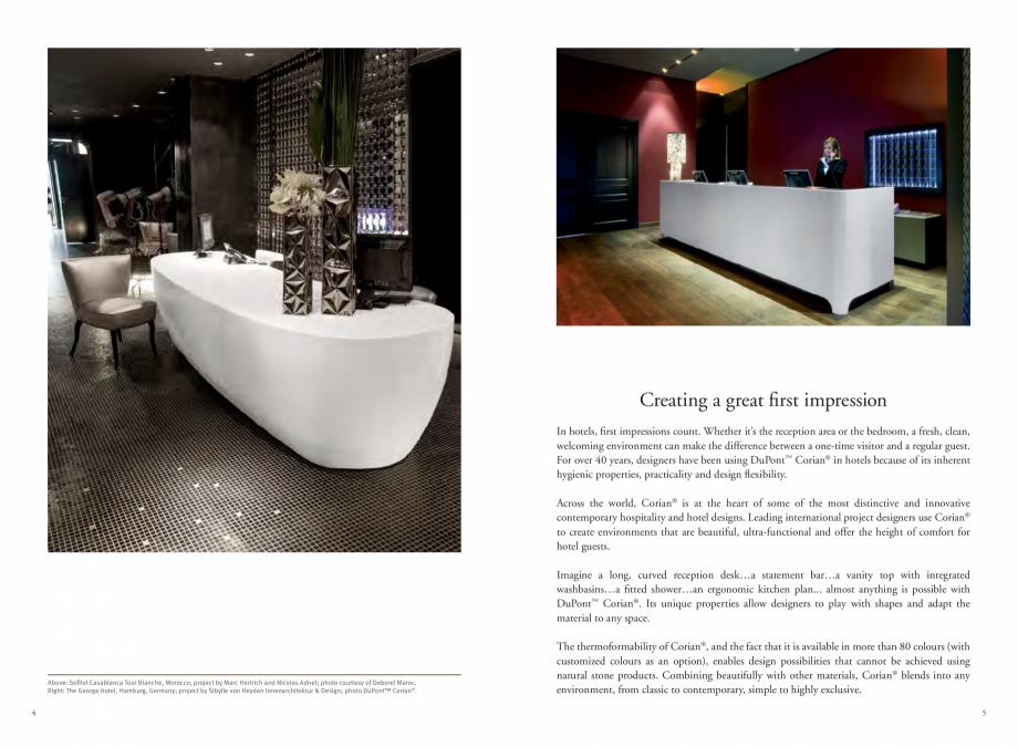 Pagina 4 - Utilizarea  placilor minerale pentru interioare in hoteluri CORIAN® Solid Surface ...