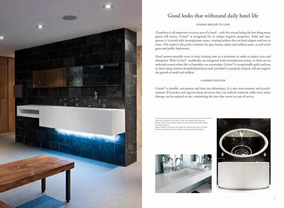 Pagina 5 - Utilizarea  placilor minerale pentru interioare in hoteluri CORIAN® Solid Surface ...
