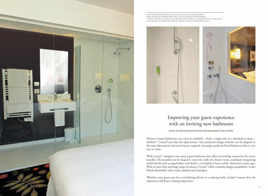 Pagina 6 - Utilizarea  placilor minerale pentru interioare in hoteluri CORIAN® Solid Surface ...