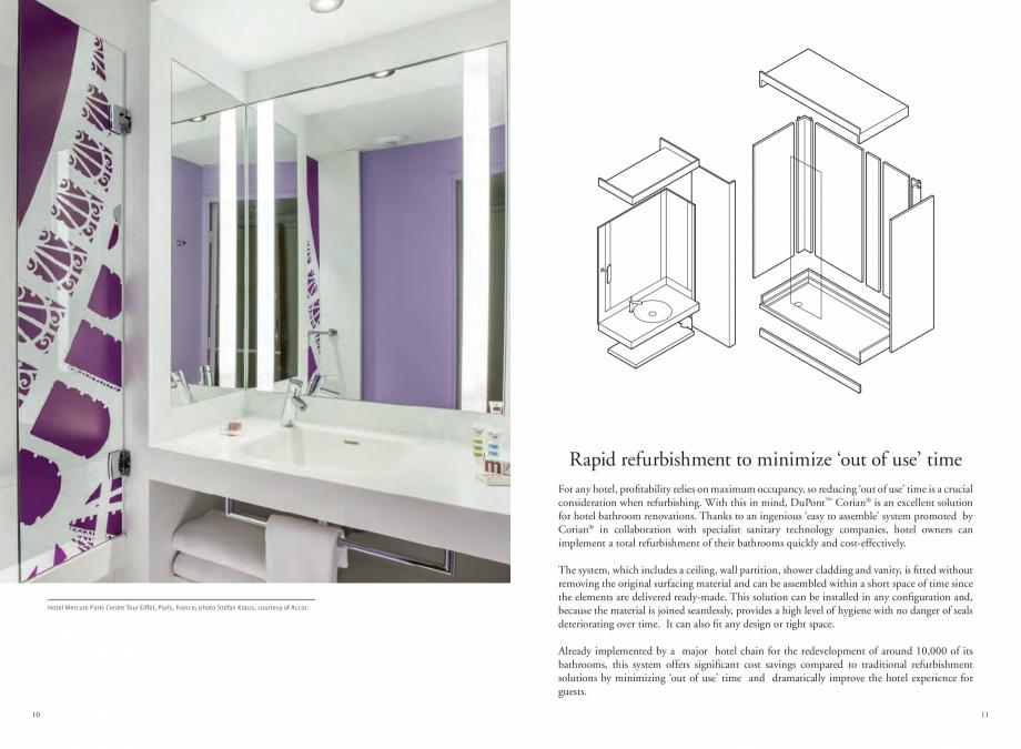 Pagina 7 - Utilizarea  placilor minerale pentru interioare in hoteluri CORIAN® Solid Surface ...