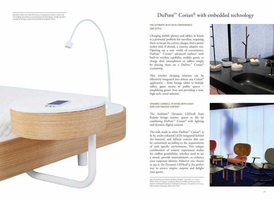 Pagina 9 - Utilizarea  placilor minerale pentru interioare in hoteluri CORIAN® Solid Surface ...