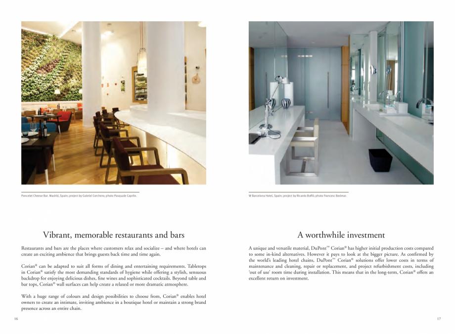 Pagina 10 - Utilizarea  placilor minerale pentru interioare in hoteluri CORIAN® Solid Surface ...