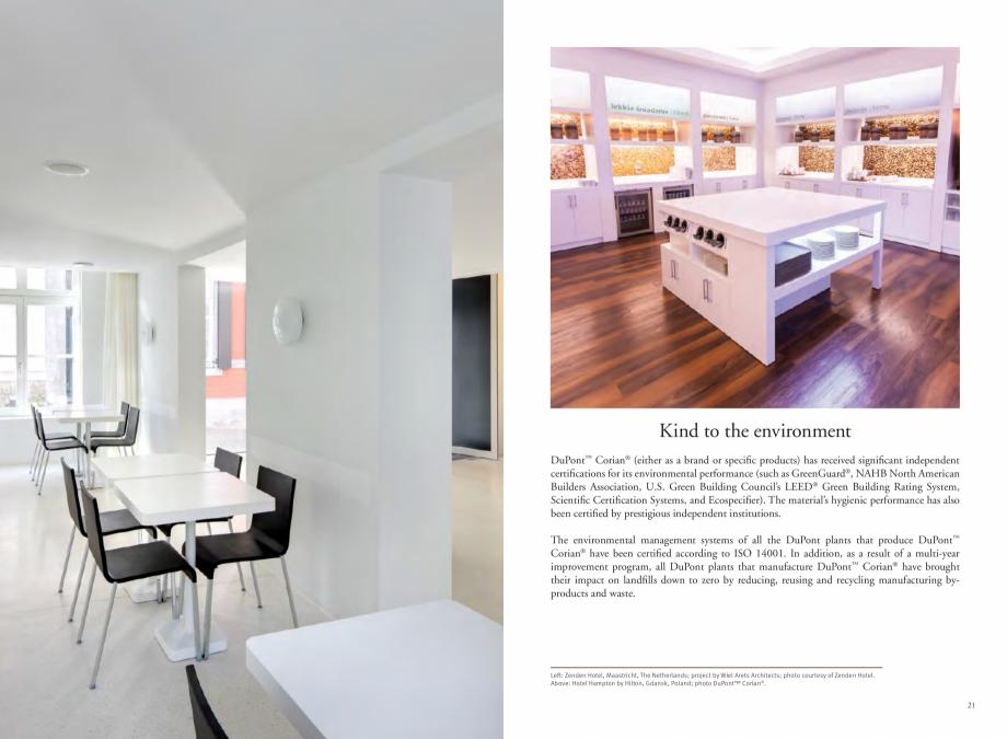 Pagina 12 - Utilizarea  placilor minerale pentru interioare in hoteluri CORIAN® Solid Surface ...