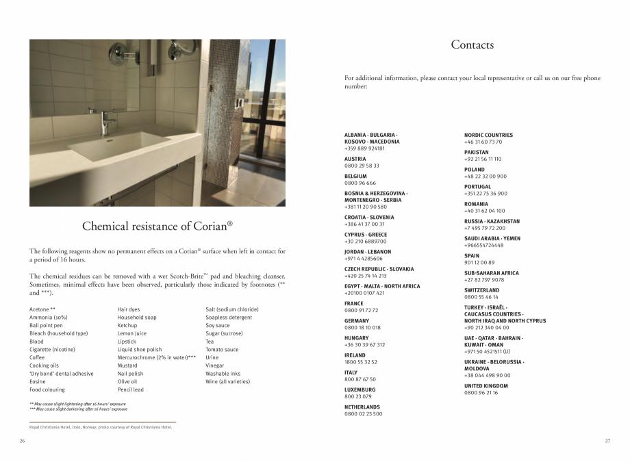 Pagina 15 - Utilizarea  placilor minerale pentru interioare in hoteluri CORIAN® Solid Surface ...