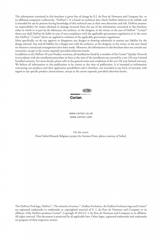 Pagina 16 - Utilizarea  placilor minerale pentru interioare in hoteluri CORIAN® Solid Surface ...