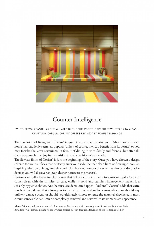 Pagina 8 - Interioare realizate cu placi minerale CORIAN® Solid Surface  CORIAN® Solid...