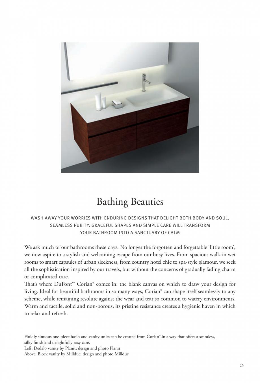 Pagina 26 - Interioare realizate cu placi minerale CORIAN® Solid Surface  CORIAN® Solid...