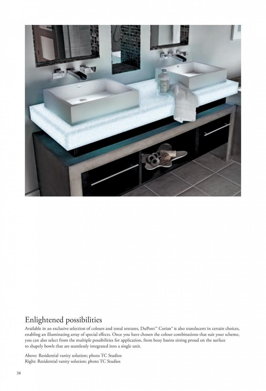 Pagina 39 - Interioare realizate cu placi minerale CORIAN® Solid Surface  CORIAN® Solid...