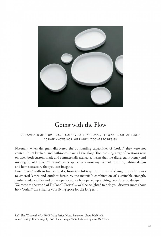 Pagina 42 - Interioare realizate cu placi minerale CORIAN® Solid Surface  CORIAN® Solid...
