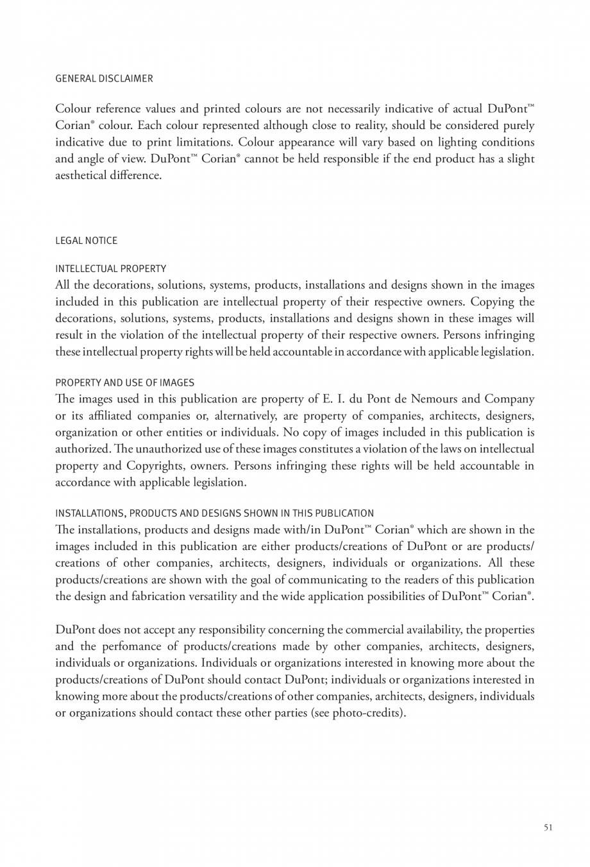 Pagina 52 - Interioare realizate cu placi minerale CORIAN® Solid Surface  CORIAN® Solid...