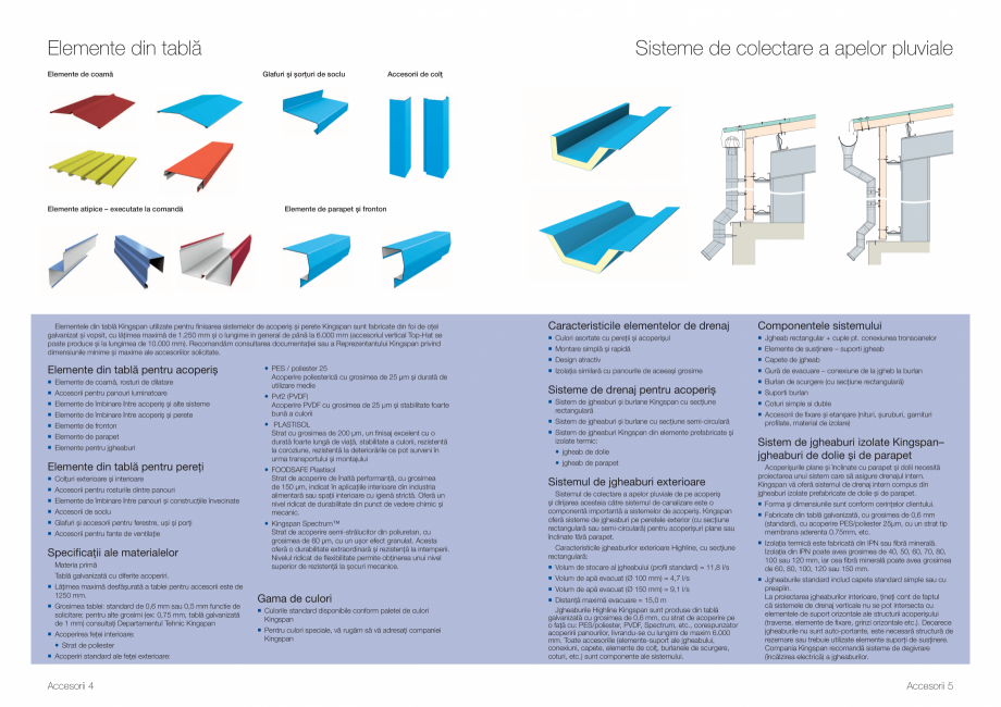 Pagina 3 - Gama de Accesorii Kingspan - Brosura KINGSPAN Catalog, brosura Romana  sau a...