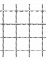 Plasa din sarma ondulata 42 x 42 x 4 mm