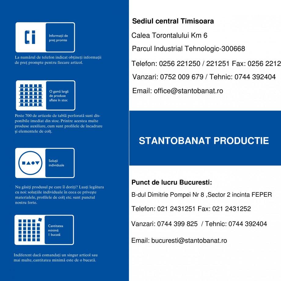 Pagina 6 - Tabla perforata STANTOBANAT Matrix 5-35, EVH 8-50, Lilie 90-28, Nr.154, Arabica 20-24,...